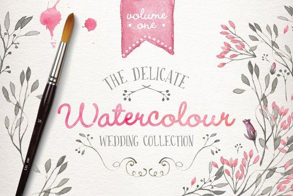 watercolor wedding collection vol 1 illustrations creative market