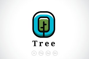 Tree Emblem Logo Template
