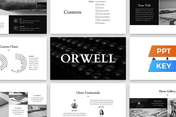 orwell presentation template presentation templates creative market