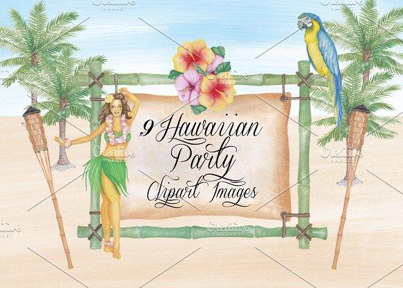 Watercolor Hawaiian Clipart Images