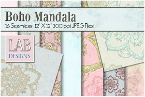 16 Distressed Mandala Textures