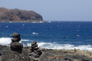 Cairns on the coast