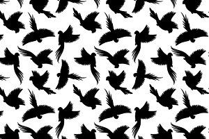 Black birds pattern