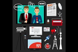 Mass media vector concept