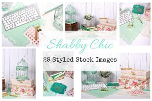 Shabby Chic Styled Stock Image Set