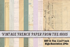 10 Vintage French Papers Pack