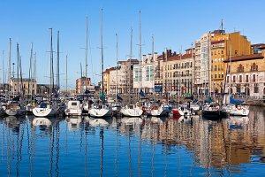 Old Port of Gijon, Northern Spain