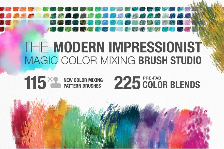 Modern Impressionist PS Brush Studio ~ Photoshop Add-Ons ~ Creative