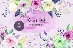 Watercolor Clipart Class Act