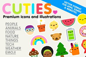 Cuties - Premium Icons/Illustrations