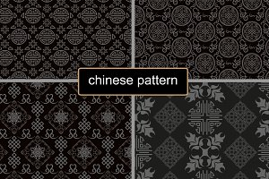 chinese pattern dark