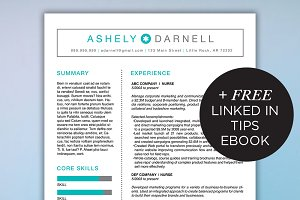 Simple Resume Template + Free Ebook