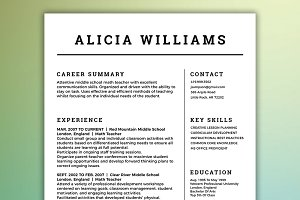 CV Template | Simple Resume Package