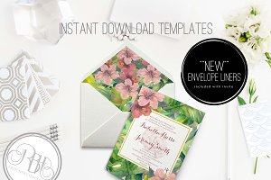 Tropical Invite & Envelope Liner