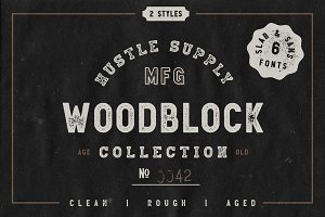 Woodblock Collection - Sans & Slab