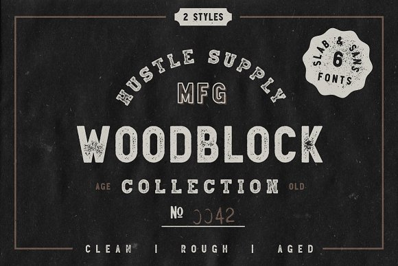 Woodblock Collection Sans Slab