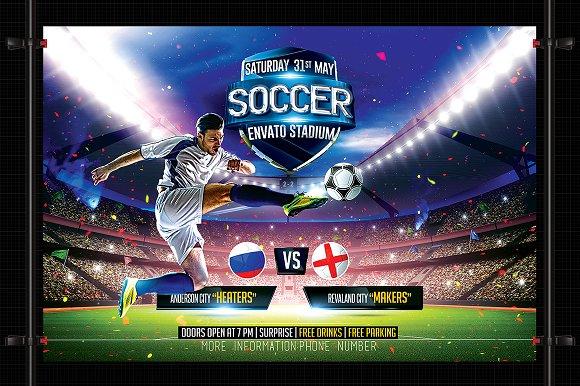 Soccer Flyer Template Flyer Templates Creative Market – Soccer Flyer Template