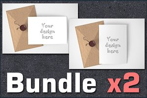 BUNDLEx2 styled stock card mockups