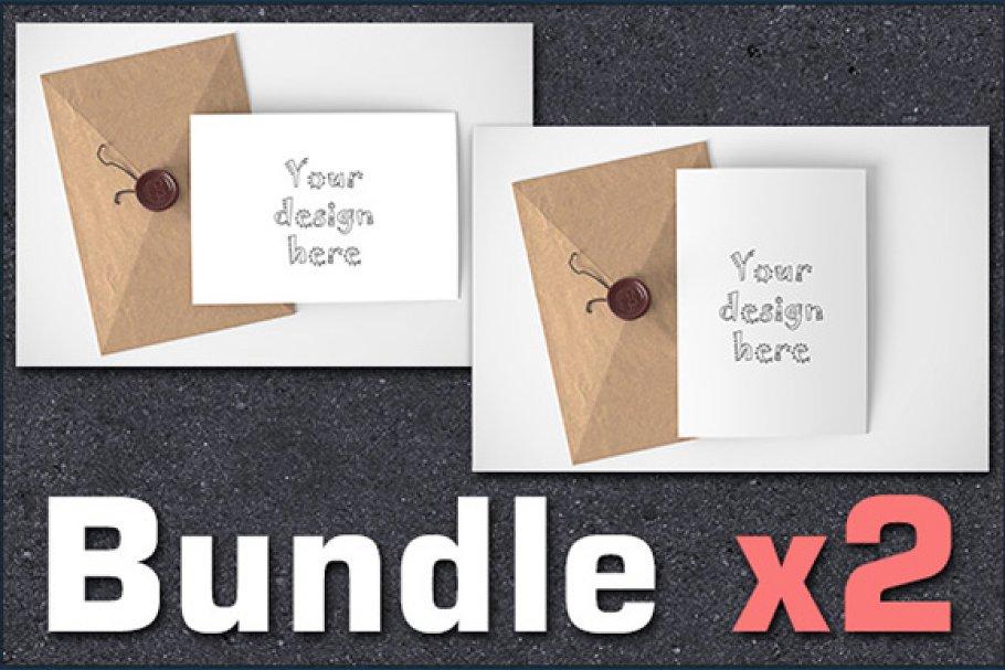 BUNDLEx2 styled stock card mockups