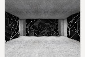 Polygonal wall concrete