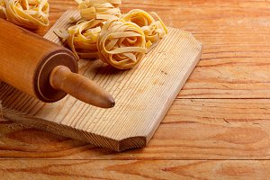 Pasta and rolling-pin