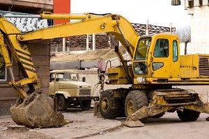 excavator with big scoop