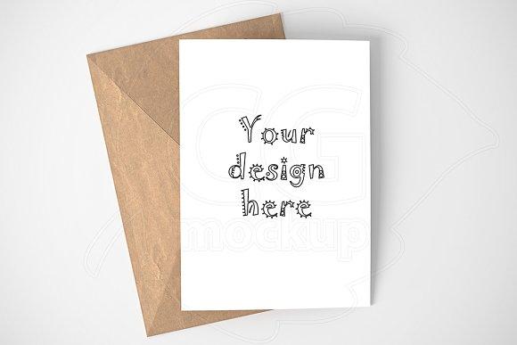 Minimal card/invitation mockup PSD in Print Mockups