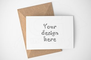 Greeting card A6 basic mockup PNG
