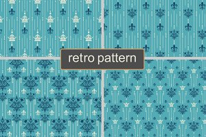 Seamless Blue Patterns