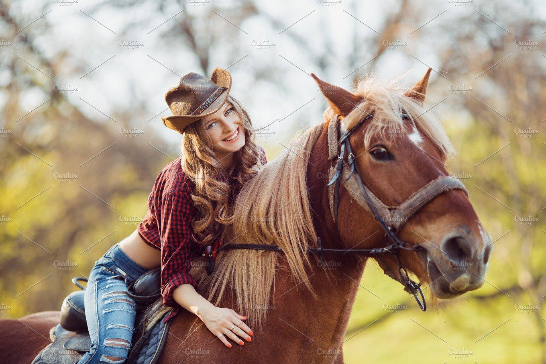 Girl rides girl