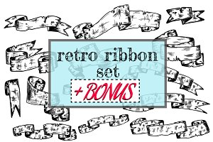 Ribbons retro set + BONUS.