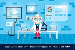 Social Analyzer Illustration