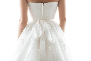 Details of beautiful wedding dress