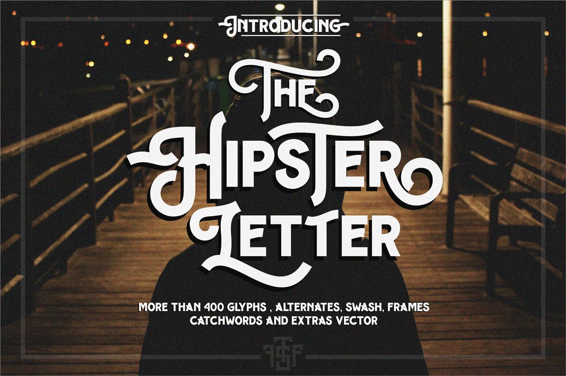 hipster letter extras display fonts creative market