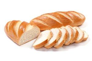 long loaf sliced bread
