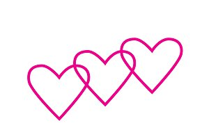 Heart icons pink