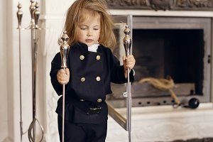 Chimney Sweep Playful Girl