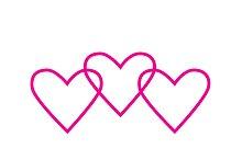 Heart chain Valentine's day