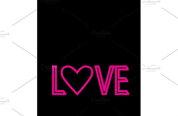 Love Pink Background Vector