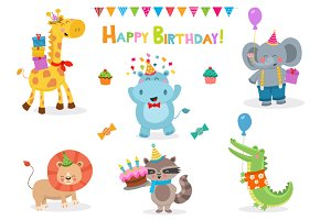 Cute Birthday Animals