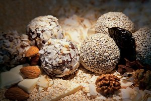 Sweets balls with walnuts
