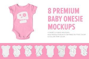8 Premium Baby Shirt/Onesie Mockups