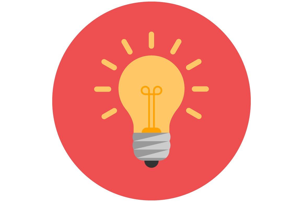 lightbulb flat icon icons creative market