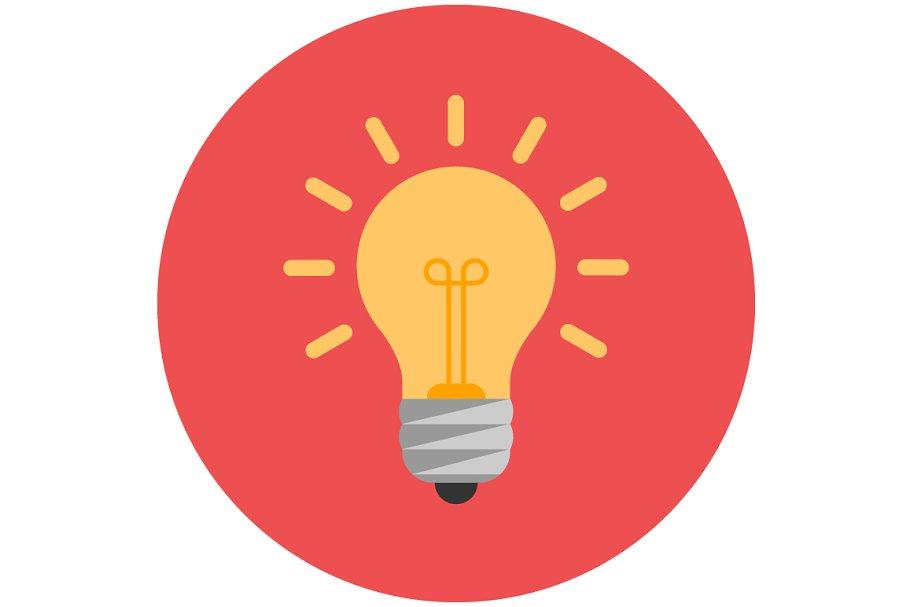 Lightbulb flat icon