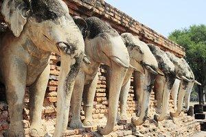 Elephants pagoda , Thailand
