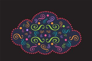Cloud icon ornament vector