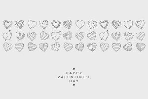 Happy Valentine's Day card. Hearts.