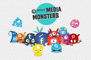 Media Monsters Social Media Icon Set