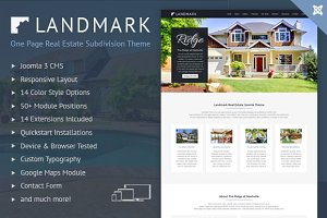 Joomla Real Estate Landing Page