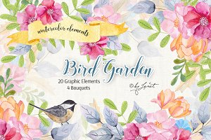 Bird Garden - Watercolor Set
